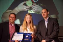 Sportlerin des Jahres 2013 Merle Homeier bei der Preisverleihung